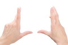 Vrouwelijke handen die samenstelling ontwerpen royalty-vrije stock foto