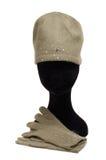 Vrouwelijke handschoenen en GLB Stock Foto's
