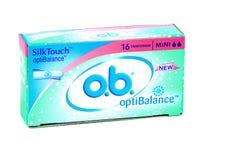 Vrouwelijke hygiënetampons op witte achtergrond Royalty-vrije Stock Foto