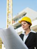 Vrouwelijke ingenieur Royalty-vrije Stock Afbeelding