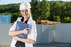 Vrouwelijke ingenieur Stock Foto