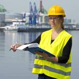 Vrouwelijke Inspecteur Stock Afbeelding