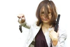 Vrouwelijke jager Stock Foto