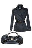 Vrouwelijke jasje en zak Royalty-vrije Stock Foto's