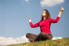 Vrouwelijke joga stock afbeeldingen