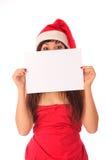 Vrouwelijke Kerstman Royalty-vrije Stock Fotografie