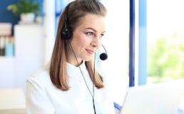 Vrouwelijke klantenondersteuningsexploitant Royalty-vrije Stock Afbeelding