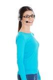 Vrouwelijke klantenondersteuningsexploitant met hoofdtelefoon Royalty-vrije Stock Afbeelding