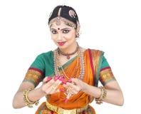 Vrouwelijke klassieke danser van India Royalty-vrije Stock Afbeelding
