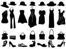 vrouwelijke kleding Royalty-vrije Stock Afbeeldingen