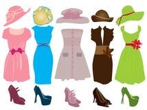 Vrouwelijke kleding Stock Foto's