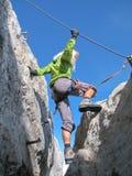Vrouwelijke klimmer 2 Stock Foto