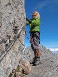 Vrouwelijke klimmer Royalty-vrije Stock Foto's