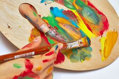 Vrouwelijke kunstenaar Stock Afbeeldingen