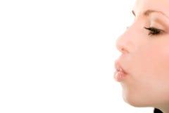 Vrouwelijke kus Stock Afbeelding