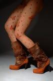 Vrouwelijke laarzen Royalty-vrije Stock Afbeeldingen