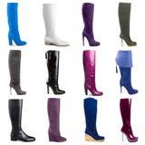 Vrouwelijke laarzeninzameling Royalty-vrije Stock Foto