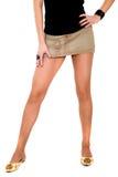 Vrouwelijke lange benen Royalty-vrije Stock Foto's