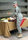 Vrouwelijke legermilitair Royalty-vrije Stock Fotografie