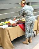 Vrouwelijke legermilitair Royalty-vrije Stock Afbeeldingen