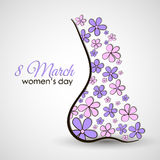 Vrouwelijke Lichaamsprentbriefkaar Royalty-vrije Stock Afbeelding