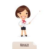 Vrouwelijke Manager With Laser Pointer Royalty-vrije Stock Foto's