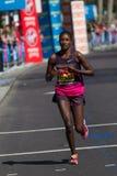 Vrouwelijke marathonagent Stock Afbeeldingen