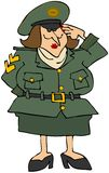 Vrouwelijke Militair vector illustratie