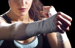 Vrouwelijke MMA-Vechter Royalty-vrije Stock Afbeelding