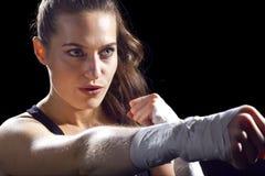 Vrouwelijke MMA-Vechter Stock Afbeeldingen