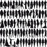 Vrouwelijke modellen Stock Afbeeldingen