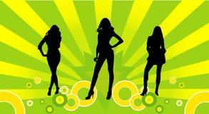 Vrouwelijke modellenvector Stock Afbeelding