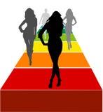Vrouwelijke modellenvector Royalty-vrije Stock Afbeelding
