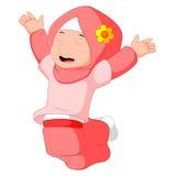 Vrouwelijke moslim status vector illustratie