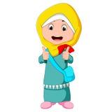 Vrouwelijke moslim status royalty-vrije illustratie