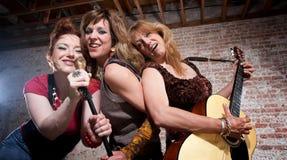 Vrouwelijke musici Royalty-vrije Stock Foto's