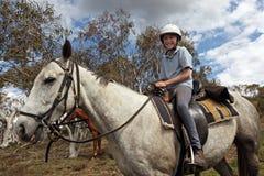 Vrouwelijke paardruiter Stock Foto