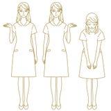 Vrouwelijke personeelsbegeleiding royalty-vrije illustratie