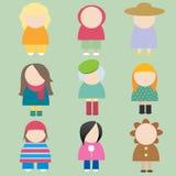 Vrouwelijke pictogrammen Stock Afbeeldingen
