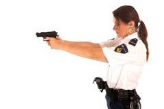 Vrouwelijke politieman Stock Foto's