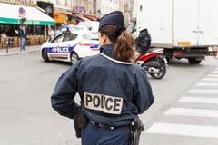 Vrouwelijke Politieman Paris Stock Fotografie