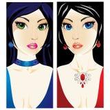 Vrouwelijke portretten Royalty-vrije Stock Afbeeldingen