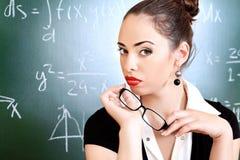 Vrouwelijke privé-leraar Stock Afbeeldingen