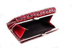 Vrouwelijke rode handtas Stock Afbeelding