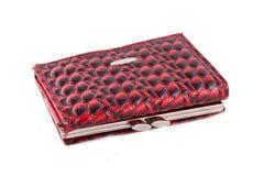 Vrouwelijke rode handtas Stock Fotografie