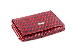 Vrouwelijke rode handtas Stock Foto's