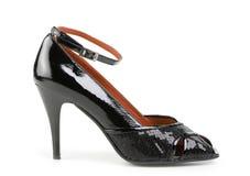 Vrouwelijke schoen, die op wit wordt geïsoleerd stock afbeelding
