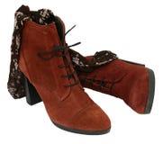 Vrouwelijke schoenen stock afbeeldingen