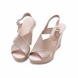 Vrouwelijke schoenen Royalty-vrije Stock Fotografie