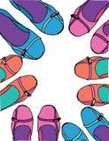 Vrouwelijke schoenen Royalty-vrije Stock Afbeeldingen
